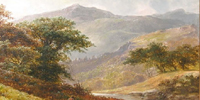 Highland landscape painting by Thomas Stanley Barber