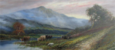 Highland landscape painting by Joel Owen