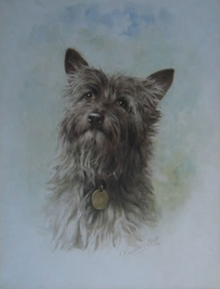Detail from Portrait of a Terrier by James Chalmers Park