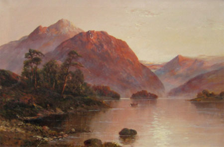 Detail from Sunset over Loch Katrine by Graham Williams (alias Francis E Jamieson)