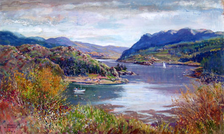 Detail from Plockton by Donald Shearer